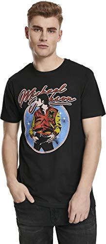 MERCHCODE Herren Michael Jackson Circle T-Shirt Black XXL
