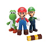 HXDZFX 9 PCS Mario and Luigi Toys Figurines – Super Mario Action Figures Toys – Yoshi & Mario Bros – Mario Toy for Boys – Premium Mario Cake Toppers Decoration
