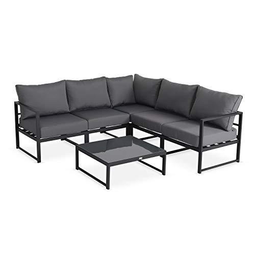 Muebles de Jardin, Aluminio, Antracita Gris, 5 plazas | Stratum