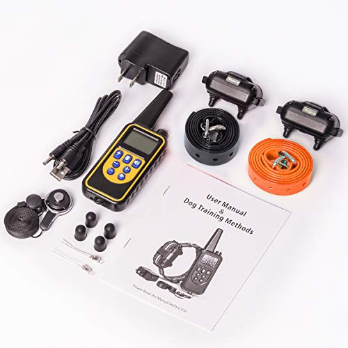 iSPECLE Upgraded 2600ft Remote Dog Training Collar