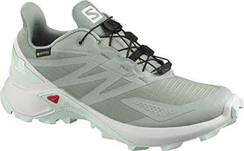 SALOMON Calzado Bajo Supercross Blast GTX, Zapatillas de Trail Running Mujer, Green, 43 1/3 EU