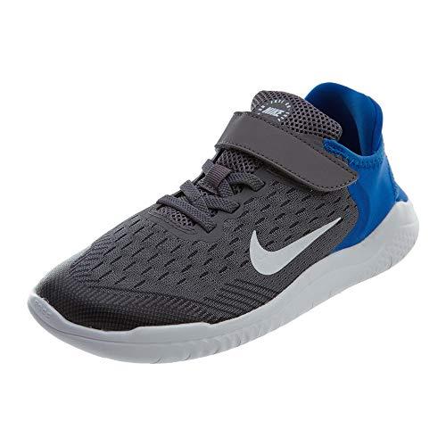 Nike Free RN 2018 (PSV), Zapatillas de Running para Niños, Multicolor (Gunsmoke/White-Signal Blue-Thunder Grey 005), 31 EU