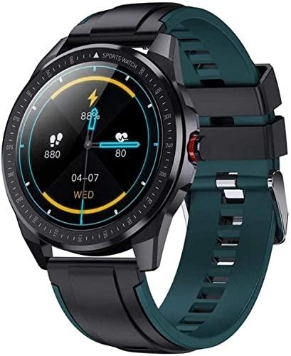 AKY 30M Deep IP68 Impermeable 60 días Tiempo de espera Super Slim Metal Cuerpo Smart Watch Frecuencia Cardíaca Presión Arterial Música Reloj Inteligente Hombres (Color: B) (B)