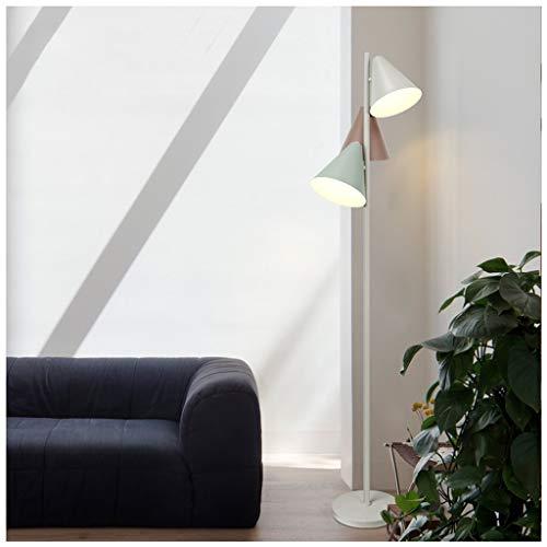 QTDH Modern Task-vloerlicht met voetschakelaar, persoonlijkheid Macaron hoge paal staan leesvloer licht voor kantoor, studentenkamer - 3 licht