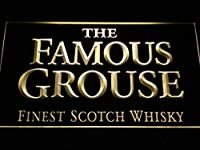 The Famous Grouse Whisky LED看板 ネオンサイン ライト 電飾 広告用標識 W40cm x H30cm イエロー