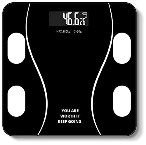 RYLAN India Heavy Thick Tempered Glass Lcd Display Weighing Machine Digital, Weight Machine For Human Body Digital Weighing Scale, Weight Scale , Weight Machine , Weighing Machine (Flower)
