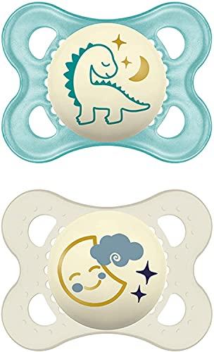 Instrucciones en lengua extranjera - MAM Day & Night - Juego de 2 chupetes MAM Night 0-6 meses luna y dinosaurio