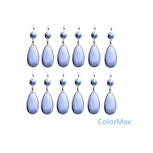 Colormax 50mm gocce di cristallo ciondolo con chiusura a farfalla lampadario prismi Hanging wedding Christmas Garland, confezione da 10(viola)