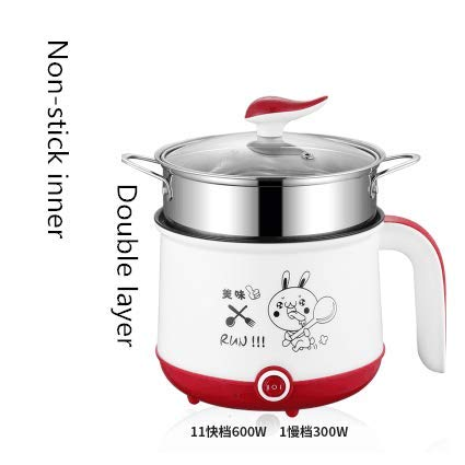 DIDIOI rijstkoker, rijstkoker, 220 V, mini-elektrische multifunctionele kookfunctie, single of dubbele laag verkrijgbaar Hot Pot multi rijst