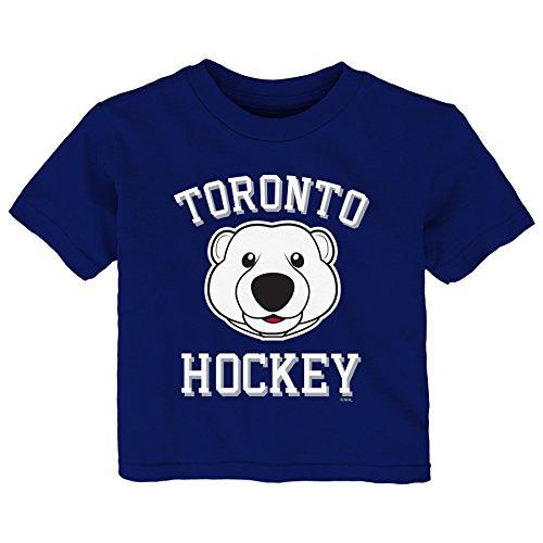 Outerstuff NHL Toronto Maple Leafs Children Unisex Hello Mascot Short Sleeve Tee, 18 Months, Leafs Blue