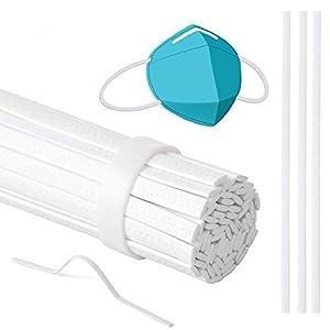 LIHAO 60 Tiras de Puente de Nariz Plástico Ajustable para DIY Protección Nasal y Bucal (0,3x10cm)