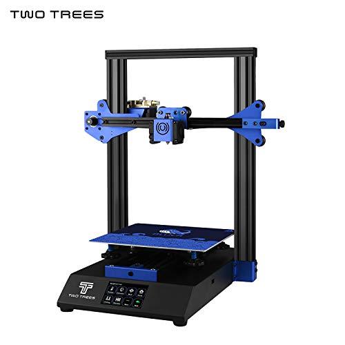 Entweg DEUX ARBRES BLUER Imprimante 3D Kit DIY Structure en tôle Impression silencieuse 235 * 235 * 280mm Volume de fabrication Haute précision avec écran tactile de 3,5 pouces Lit chauffé Reprendre