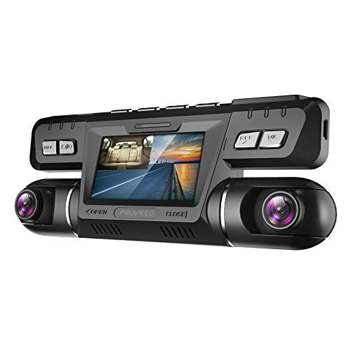 Pruveeo B80 Dash Cam with WiFi, Dual 1080P Front and Inside, Dash Camera for Cars Uber Lyft Truck Taxi