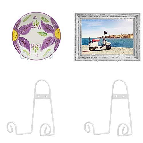 15 cmきい壁用垂直プレートホルダ ハンガー スタンド 皿立 写真立て 本立て (4個セット)