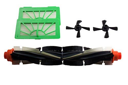 Hannets Hochwertiges Ersatzzubehör kompatibel mit Vorwerk VR100 I VR 100 Roboterstaubsauger Staubsaugroboter Ersatzset passend für Vorwerk Kobold VR 100 Nr. VR100-1RB-2S-2F