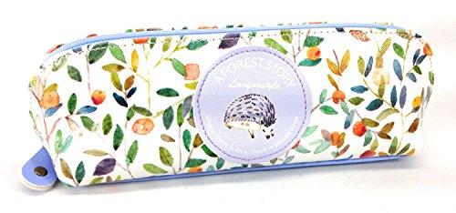 【Deli 】 ナチュラル風 かわいい 森の動物 デザイン ペンケース (ハリネズミ) [並行輸入品]