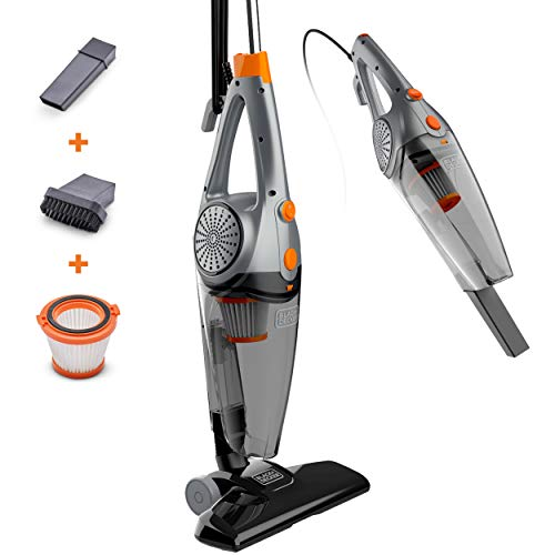 Product Image of the BLACK+DECKER Upright Vacuum Cleaner, Metallic Gray with Orange