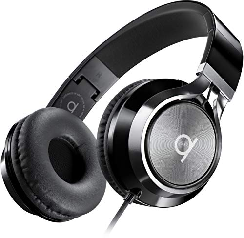 Artix Faltbare Kopfhörer mit Mikrofon, NRGSound CL750 Kompakte On-Ear Stereo Ohrhörer, Ideal für Kinder/Jugendliche/Erwachsene (Schwarz)
