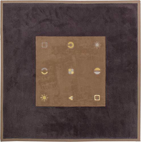 Lifetex.eu Designteppich JAB Handkunst-Manufaktur quadratisch ca. 200 x 200 cm Grau handtuft Schurwolle Modern hochwertiger Teppich