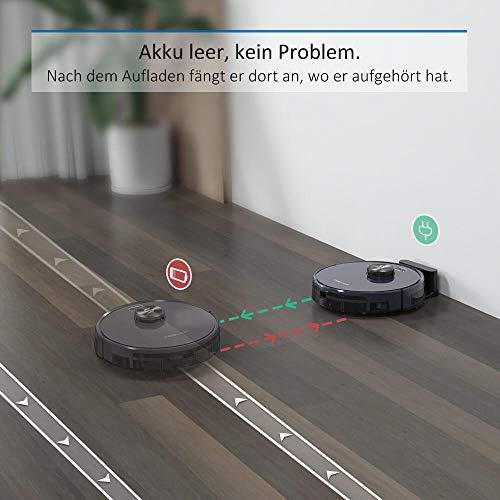 Tesvor Saugroboter,S6 Saug-Wischroboter mit Laser Navigation Superstark 2700PA Roboterstaubsauger Laufzeit 120 Min Allergene Tierhaarbeseitigung App Sprachsteuerung & Verbotszonen - 5