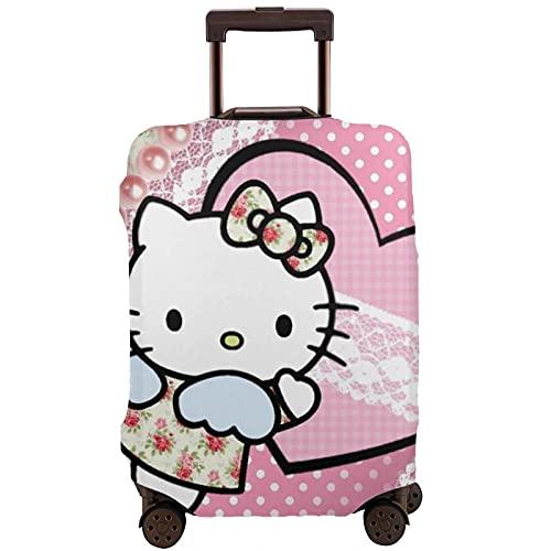 Hello Kitty Cartoon Anime Cute Cat Maleta Protector Funda Lavable Diseño 3D 4 Tamaños para la mayoría de Equipaje Bolsa Protectora Cremallera