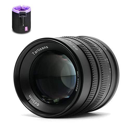 7artisans Manuelles Festobjektiv, APS-C 55 mm F1,4, für Fuji X Mount Kameras X-A1, X-A10, X-A2, X-A3, X-AT, X-M1, XM2, X-T1, X-T10, X-T2, X-T20, X-Pro1, X-Pro2, X-E1, X-E2, X-E2s