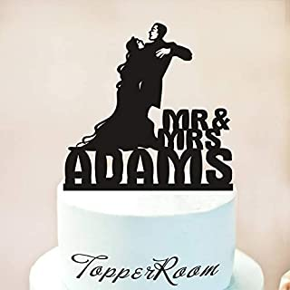 Wedding Cake Topper,Halloween Wedding Cake Topper,Addams Family,Morticia And Gomez Silhouette Cake Topper,Till Death Do Us Part Wooden Or Acrylic Cake Topper Cake Decoration