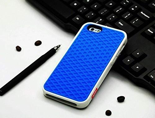 TXY Fundas Estuche Tipo Gofre para Apple iPhone 12 Mini 11 Pro MAX XS 10 8 7 Plus Se Funda Goma Suave Silicona Gofre Suela De Zapato Teléfono Móvil para iPhone 12 Pro Azul con Blanco
