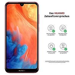 Huawei Y7 2019 Dual-SIM Smartphone 15,9 cm (6,26 Zoll) (4000mAh Akku, 32 GB interner Speicher, 3GB RAM, Android 8.0) coral red