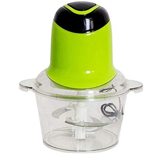 Mini-Küchenmaschine 2l 220w Food Chopper, 2 Doppelstufen-Doppelklingen aus rostfreiem Stahl zum Mischen und Zerkleinern Perfekt für Salate Curry-Pasten und mehr elektrische kleine Fleischwolf,Grün