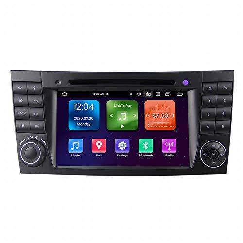 WHL.HH para Mercedes Benz E-W211 / E200 / E220 / E240 / E270 Androide 10 Auto Estéreo 7 Pulgadas Pizca Autoradio 2 DIN Cabeza Unidad Se sentó Nav GPS Navegación con DVD Jugador