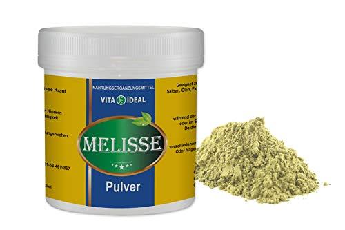 VITAIDEAL ® Melisse Kraut PULVER 300g (Melissa officinalis) + Messlöffel von NEZ-Diskounter