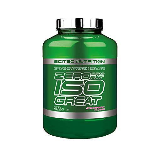 Scitec Nutrition Zero Isogreat, zero sugar/zero fat, aislado de proteína de suero, 2.3 kg, Fresa