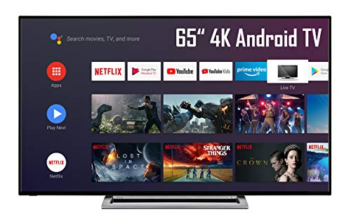 Toshiba 65UA3A63DG 65 Zoll Fernseher (4K UHD, HDR Dolby Vision, Android TV, Triple-Tuner, Prime Video, Bluetooth, Sound by Onkyo, Works with Alexa)