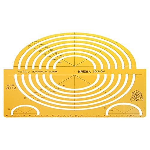 Regla de medición de plástico Rcevbocc, plantillas de diseño de elipses de resina, regla isométrica grande, regla de medición para estudiantes