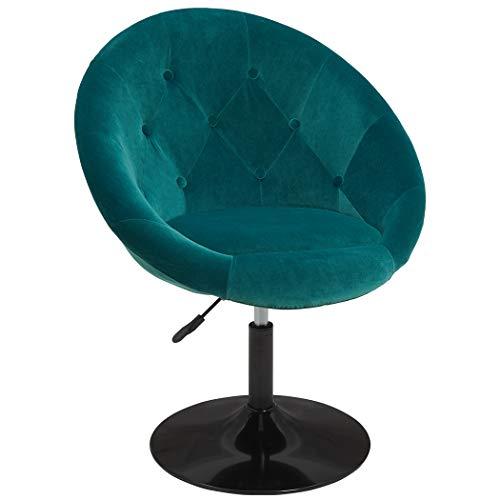 Duhome Sessel Farbenvielfalt höhenverstellbar Kunstleder Clubsessel Coctailsessel Loungesessel - TYP 509A, Farbe:Petrol, Material:Samt