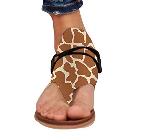 Casual zomersandalen voor dames, platte sandalen met clip