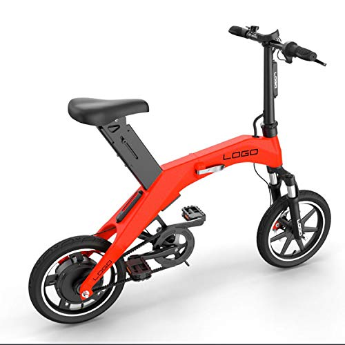Acptxvh Bicicleta eléctrica, Urban Plegable de cercanías E-Bici, Velocidad máxima 25 kilometros/h,...