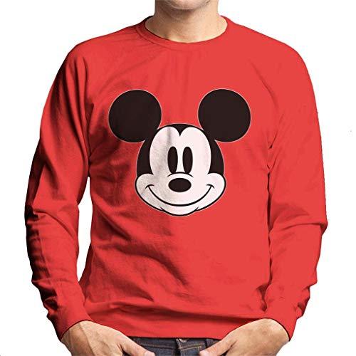 Disney Mickey Mouse Leuke glimlach zwart en wit heren trui