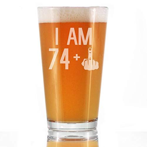 74 + 1 Middle Finger Beer Glass