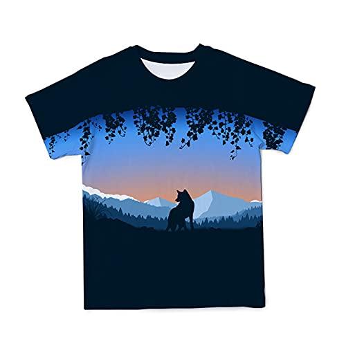 SSBZYES Camiseta para Hombre Camiseta De Manga Corta De Verano para Hombre Camiseta De Impresión 3D De Moda Suelta De Gran Tamaño Camiseta con Estampado De Lobo Top Casual para Hombre