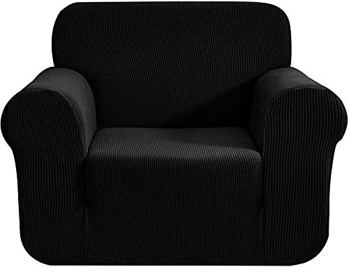 XHTANG Carvapet - Funda Impermeable para sofá en Forma de L, Funda para sofá elástica(Negro 78-116cm)