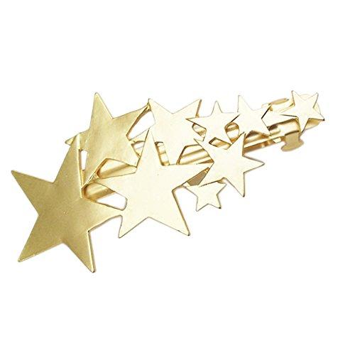baosity alfiler de cabello pinza para cabello Barette charms Motifs de pentagrama dorado