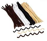 Baker Ross Limpiapipas Tonos Naturales (paquete de 100) perfectos para niños, suministros creativos de manualidades