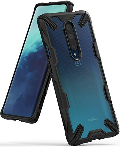 Ringke Fusion X Case Designed for Both OnePlus 7T Pro, OnePlus 7T Pro 5G Model (2019) - Black