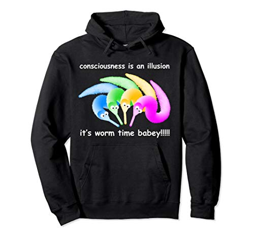 Death is Inevitable Hoodie, Magic Worm on a String Meme Pullover Hoodie