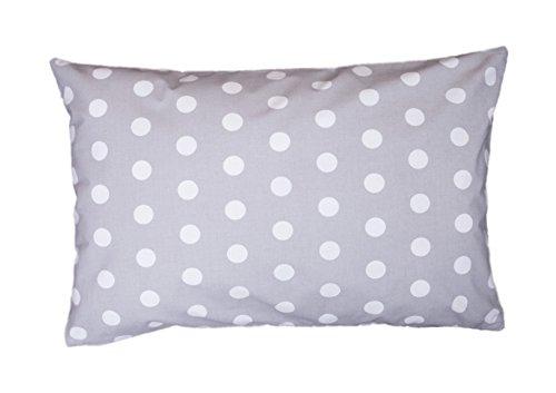 Amilian® Dekokissen Kissenbezug Kissen 40cm x 60cm Pünktchen Grau
