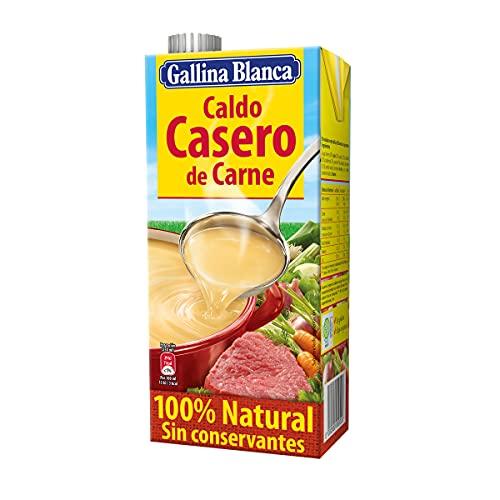 Gallina Blanca Caldo Casero de Carne, 100% Natural, 1L