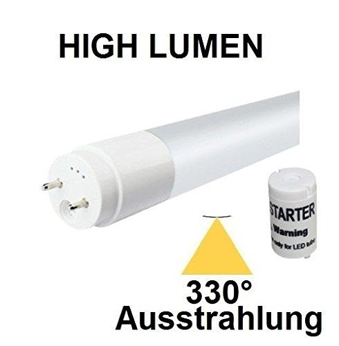TÜV + GS zertifizierte LED Röhre T8 / G13-150 cm - 22 Watt - 330° AUSSTRAHLUNG - HIGH LUMEN (2640 Lm) - Neutralweiß ~ 4000 Kelvin, ersetzt 58-75 Watt Leuchtstoffröhre - inclusive LED Starter