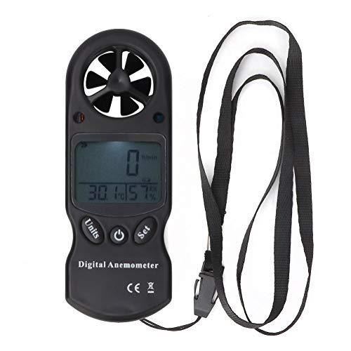 Digitaler Anemometer,Jadpes Digitales Thermometer-Hygrometer-Anemometer, 3-in-1-Mini-Hand-Multifunktions-Digitales Thermo-Hygrometer Tragbares Windgeschwindigkeitsmesser-Anemometer